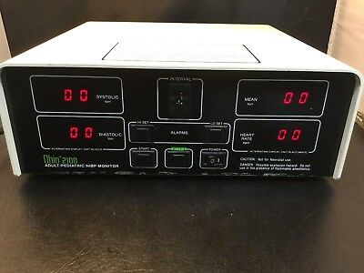 OHIO 2100 ADULT/PEDIATRIC NIBP MONITOR 309-3275-800 POWERS ON but UNTESTED kp