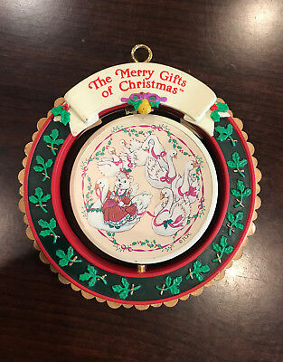 "Vintage The Merry Gifts of Christmas ornament ""SEVEN SWAMS-A SWIMMING"""
