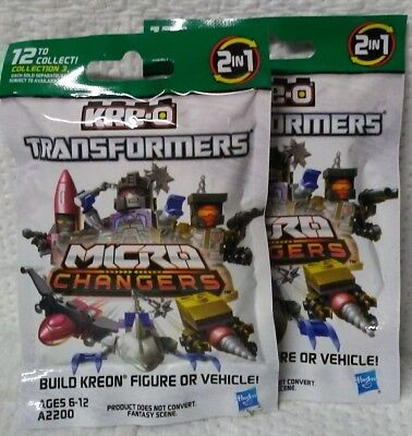 LOT OF 14 HASBRO KRE-0 TRANSFORMERS MICROS CHANGES COLLECTION 4 MYSTERY BLIND