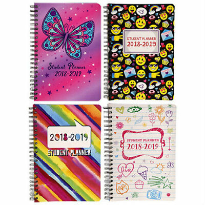 New 2018 2019 Student Weekly Daily Planner Agenda Monthly School ~ Choice