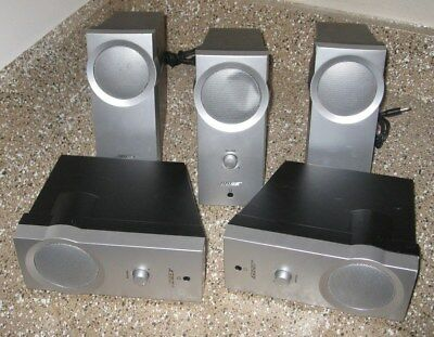 Bose Companion 2 Series I Multimedia Computer Speaker System Lot Of 5