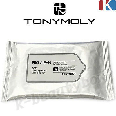 TONYMOLY Pro Clean Soft Cleansing Tissue 8 Sheets Korean Cosmetics Made in korea
