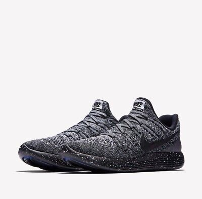 608ae4358ca5 Nike LUNAREPIC Low Flyknit 2 Mens Running Shoes 8 Black White Blue 863779  041
