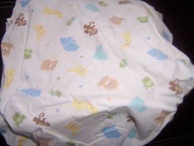 Just born fitted crib sheet animals . elephant moneky lions
