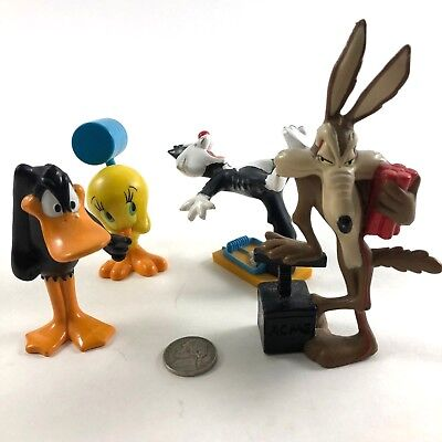 Looney Tunes - Daffy -Tweety - Sylvester - Wile E. Coyote -1994 Warner Bros Toys
