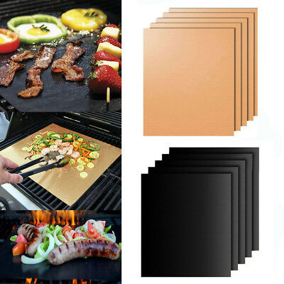 BBQ Grill Baking Mat Non Stick Copper Black Bake Barbecue Cooking Sheet Liner