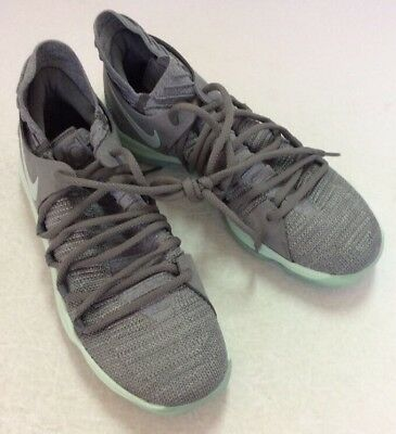 new style 60192 d80bd Nike Zoom KD X 10 IGLOO GREEN COOL GREY 897815-002 sz 10.5