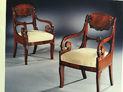Pair of Russian 19th Century Neoclassic Armchairs