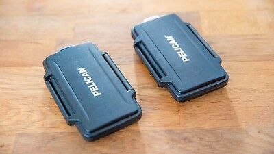Pelican Memory Card Case For All SD Memory Cards Watertight Hard Case (x2)