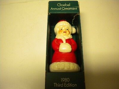 Vtg~Goebel~ Annual Ornament 1980 Third Edition~Mrs Claus~West Germany~# &stamped