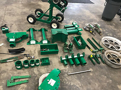 Greenlee 6001 Super Tugger Cable Puller w/ many accessories Used in great shape.