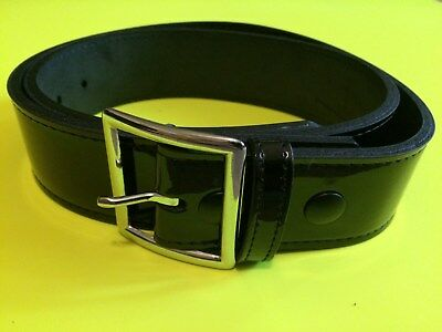 Boston Leather 6606-1-46BU Mens Black Plain Brass U-Buckle Off-Duty Belt 46/""