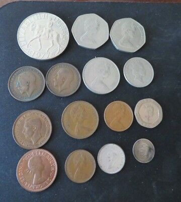 Lot of 15 Elizabeth II and Georgivs coins - Misc years