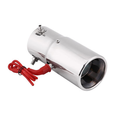 """Spitfire Car LED Exhaust Pipe Muffler Red Light Staineless Steel Chrome 2.75"""""""