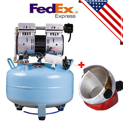 UPS】Medical Dental Air Compressor Noiseless Silent Quiet Oil-less Oil +Free Gift