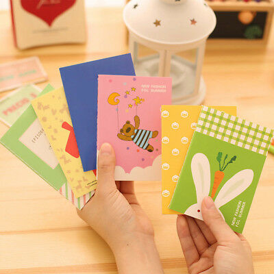 5x Portable Mini Notepad Handy Pocket Memo Small cute Retro Notebook Stationery~