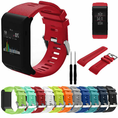 Silicone Fitness Replace Watch Band Wrist Strap For Garmin Vivoactive HR+Tools
