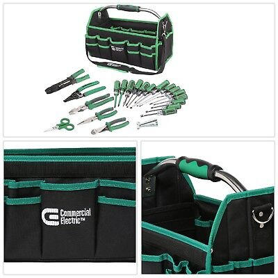 Electricians Tool Set 22 Piece Hand Held Includes Tool Bag Multiple Pockets New
