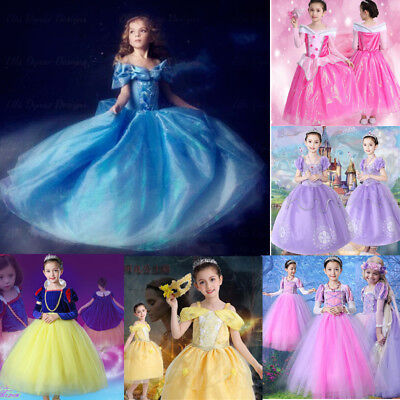 Kids Girls Dress Disney Frozen Costume Halloween Party Princess Cosplay Dresses
