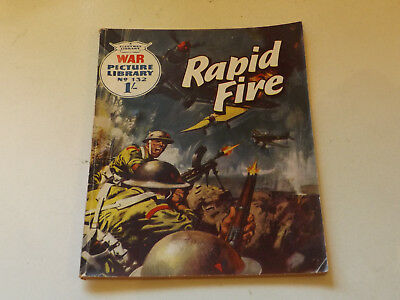 WAR PICTURE LIBRARY NO 132 !,dated 1962!,GOOD for age,great 56!YEAR OLD issue.