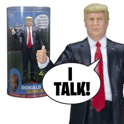 Talking Donald Trump Figure 17 Audio Prank Gag Political US President Statue 8""