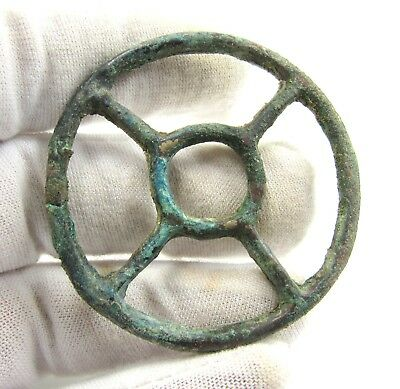 Authentic Ancient Celtic Bronze Sun Pendant Amulet - Wearable - E380