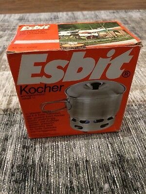 ESBIT Camping / Outdoor Kocher Set  1l Alu - alt aber neu!