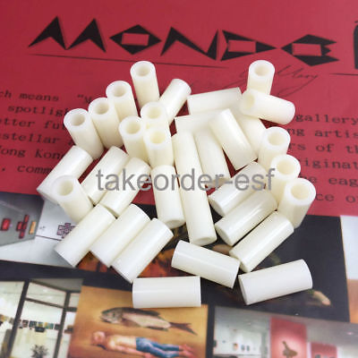 60 Pcs Nylon Cylinder Shaped Standoff PC Board PCB Spacer 7mmx3mmx12mm