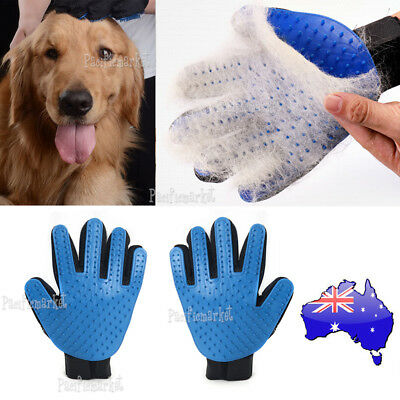 True Touch Pet Grooming Glove Brush Comb Dog Cat Hair Removal Care Bath Massage