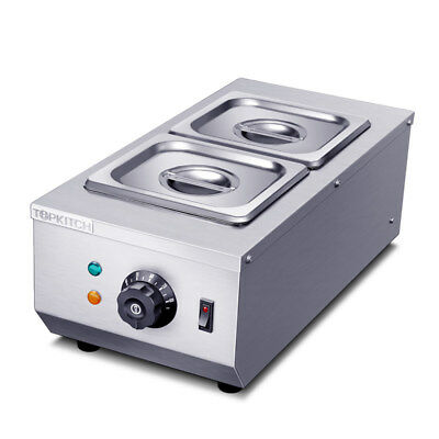 220V 2-Tanks Commercial Chocolate Melting Machine Electric Hot Chocolate Melter