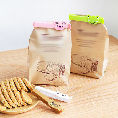 4Pcs Kitchen Storage Food Plastic Snack Seal Sealing Bag Clip Sealer Clamp Tool