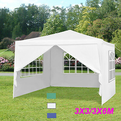 Waterproof 3x3m/3x6m PE Gazebo Marquee Garden Awning Party Tent Canopy Outdoor