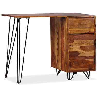 vidaXL Writing Desk with 1 Drawer and 1 Cabinet Solid Sheesham Wood Office