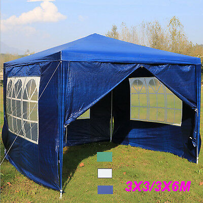 3m x 3m  6mx3m Garden Party Tent Marquee Patio Gazebo Water Resistant 4 Sides