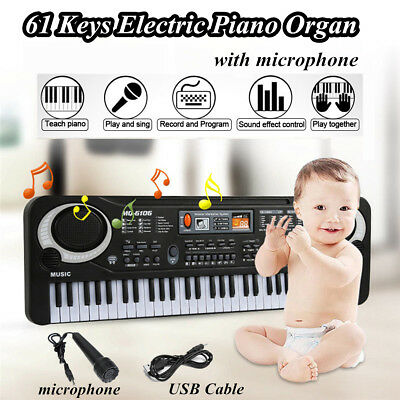 61 Keys Electric Keyboard Digital Music Electronic Piano Organ Sets & Microphone
