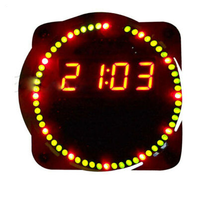 Assemble Rotating LED Electronic Temperature Display Board Digital Clock Durable