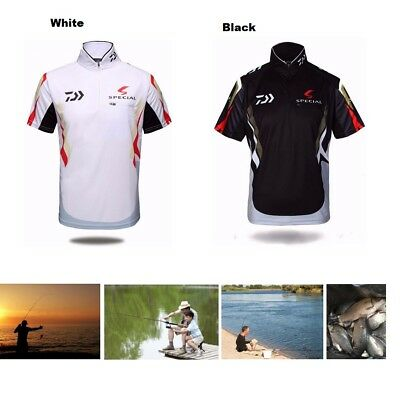 Quick-dry Men's Fishing Short Shirt Sun Protective POLO Breathable Outdoor Tee