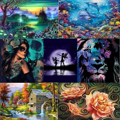 Elf Witch Flower 5D DIY Diamond Painting Embroidery Cross Paint By Number Kit AU