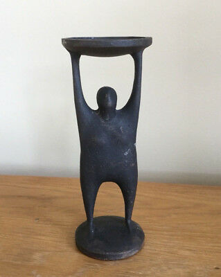 MIDCENTURY MODERNIST ABSTRACT IRON SCULPTURE FEMALE FORM like Henry Moore