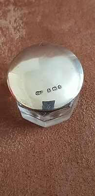 Solid Silver Lidded Vanity Jar by Cohen & Charles