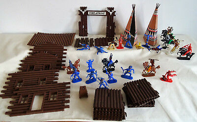 WESTERNFORT Fort Apache von BIG mit West Germany Figuren_70er