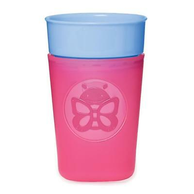 Skip Hop Zoo 9 Ounce Turn and Learn Training Cup - Butterfly