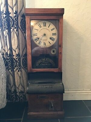 Antique Time Recorder - National Time Clocking In Clock