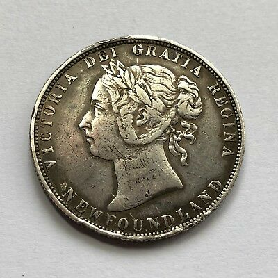 Newfoundland 1899 Sterling Silver 50 Cents Queen Victoria