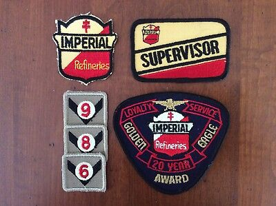 Lot of Imperial Refineries Oil & Gas Employee Supervisor Patches