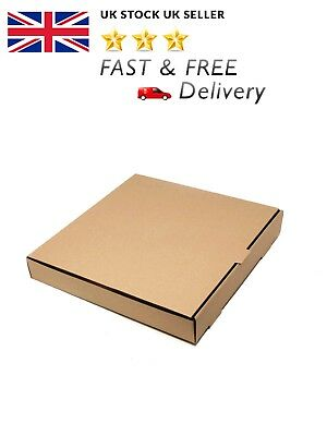 12 inch Plain Pizza Boxes, Takeaway Pizza Box, Brown, Strong Quality