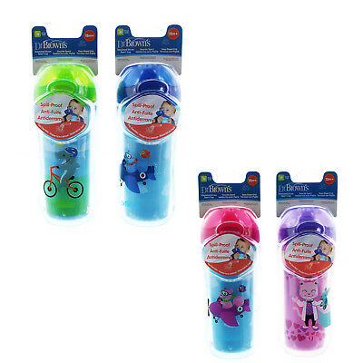 Dr. Brown's Insulated 10 oz. Drink Sport Straw Sippy Cups 12 Months, 2 Pack