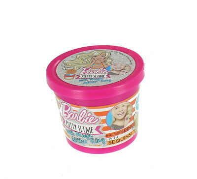 Barbie Putty Slime With Magic Glitter Ring Play Stretch Squeeze Shape 90g Tub