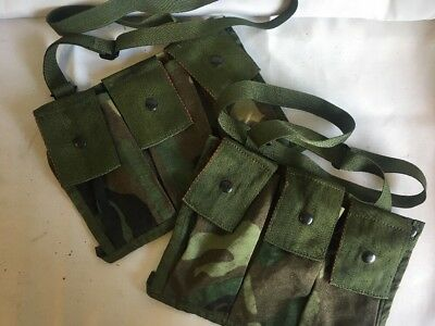 Lot Of Military Surplus 2 Molle Pouch 6 Magazines Bandoleer Nsn 8465-01-465-2144