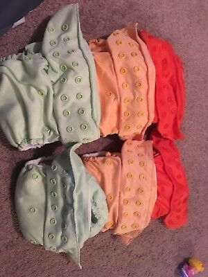 bumgenius freetime all-in-one cloth diapers- gently used- lot of 6